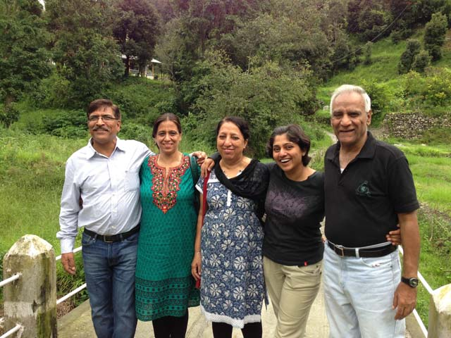 With my younger brother and family in Kumaon