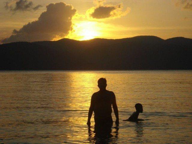 Awesome view of sunset chidiya tapu port blair