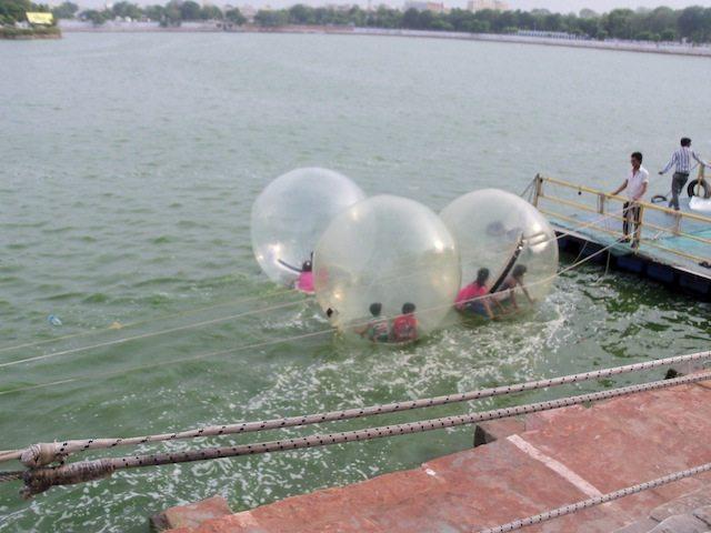 Kids enjoying in the water