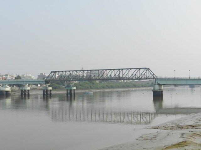 Bridge connecting Nani-Moti Daman