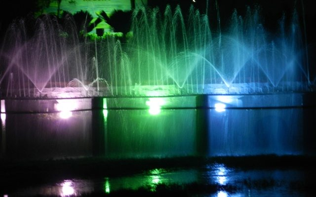 Colour Fountain in a Resort of Diu