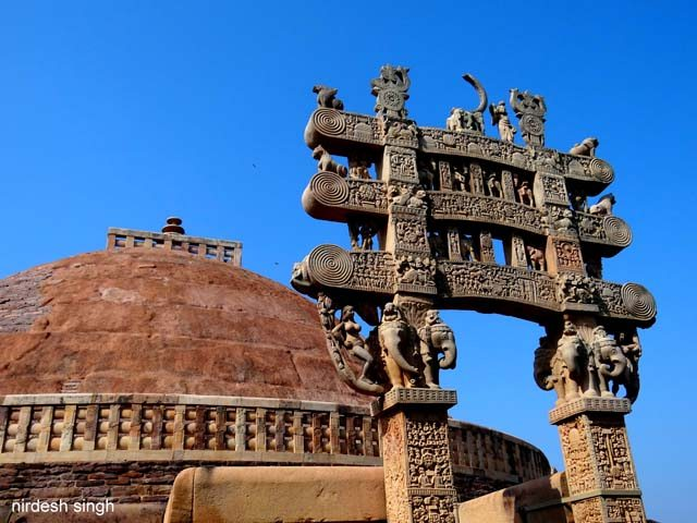 Great Stupa of Sanchi - Front View of North Torana