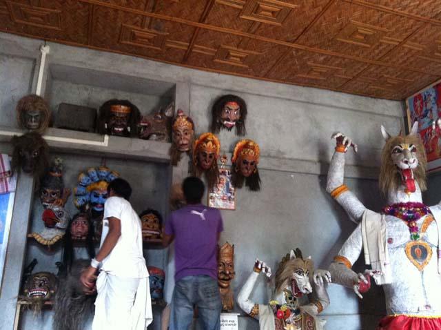 Samaguri Satra - Masks making