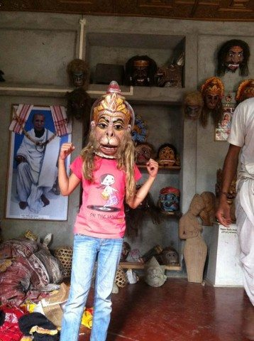 Thats my grand-daughter donning a mask