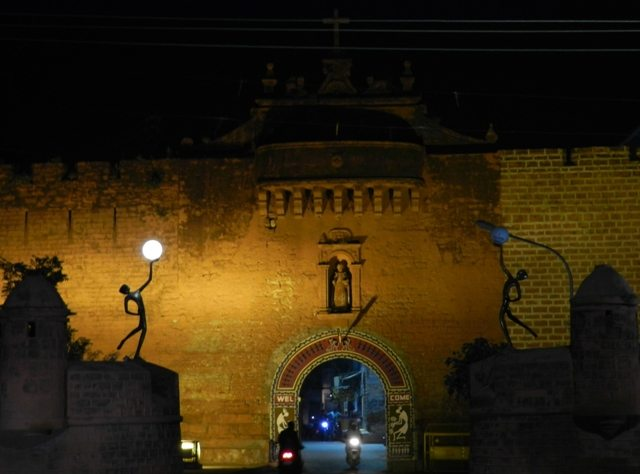 Illuminated Entry to Diu City
