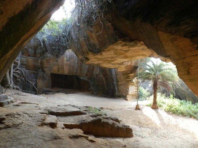 Inside Naida Caves