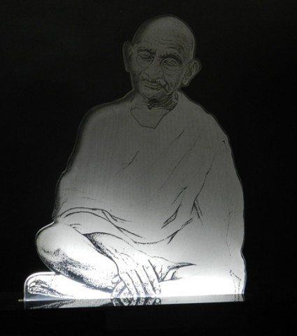 Portrait with 3-D effect