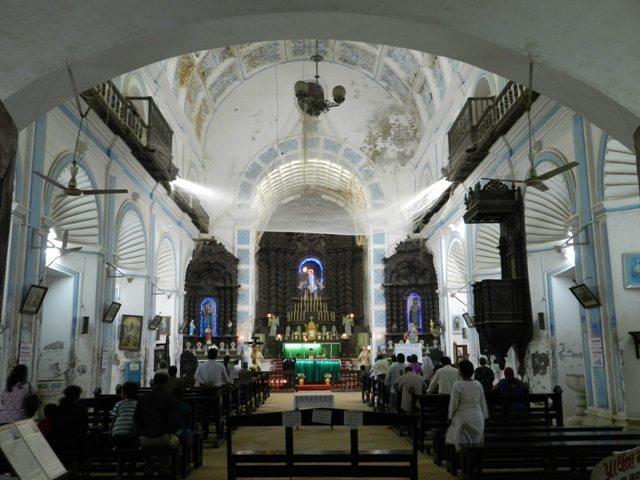 Prayer inside St. Paul's Church