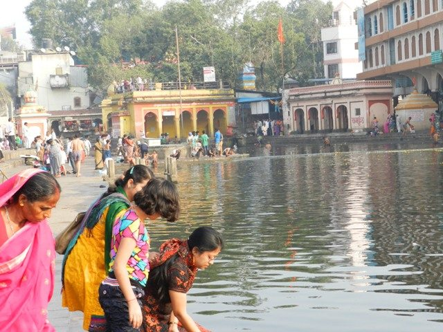 Rituals by Ladies at Ram Kund