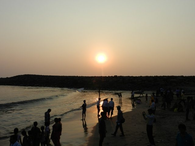 Sun-set at Somnath