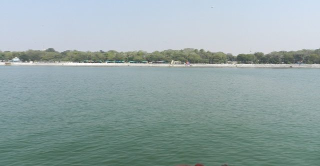 Wide view of Kankaria Lake