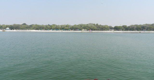 Wide view of Kankaria Lake