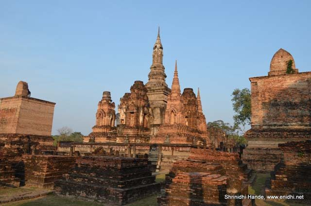 13th century temples at sukho thai
