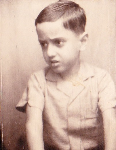Dr Taher at the age of 4 - a picture from his father's collection