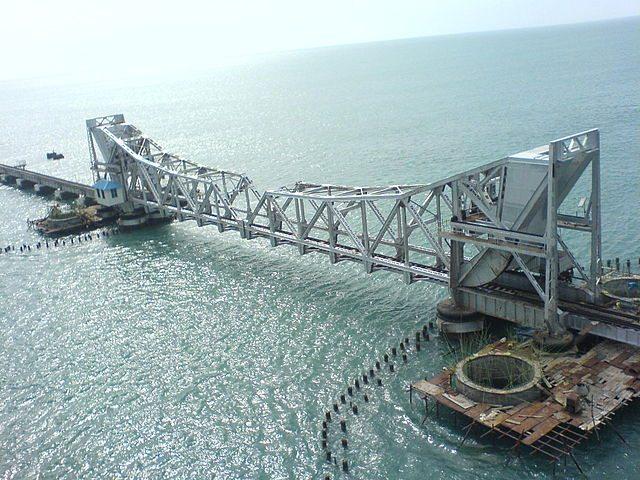 Pamban Rail Bridge - Courtesy Wikipedia
