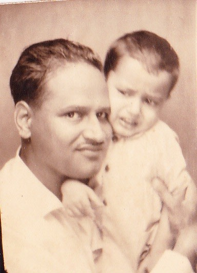 Young Taher with his father - another picture from his father's collection