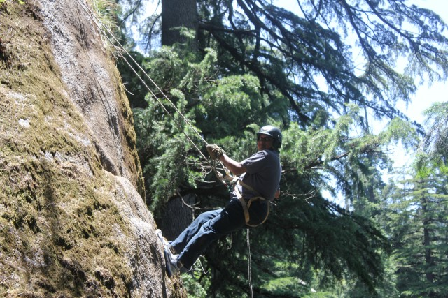 Rock climbing - Dr Taher loves adventure but his family doesn't like to rough it up too much