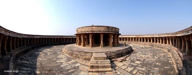 Mitawali Temple - A Panoramic View of the Concentric Construction