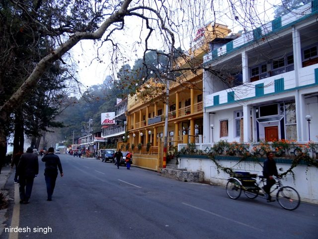 Nainital - Hotels Lining the Mall Road