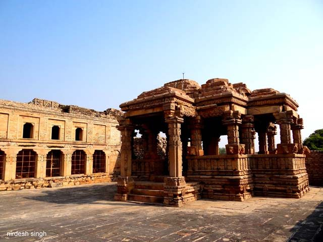 Padawali - Fortress Courtyard with Temple Mandap