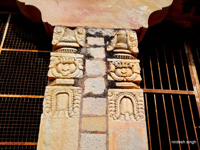Padhawali - Temple Pillar used as an Arch Supporting Member in the Fortress