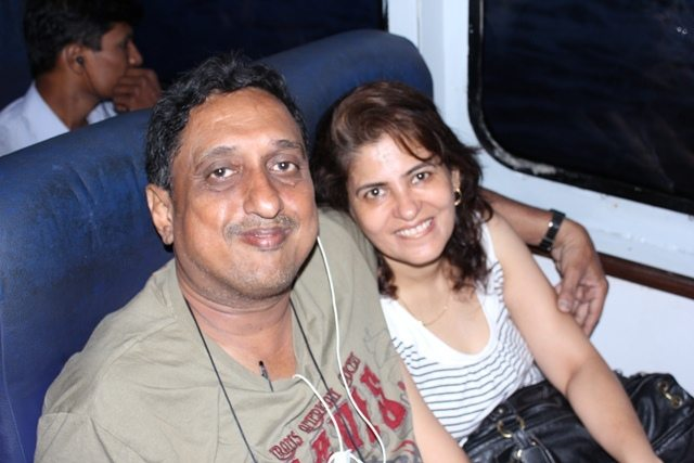 Dr Taher and Nishrin in Catamaran