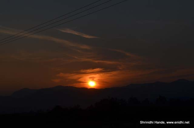 sunset across the burma border
