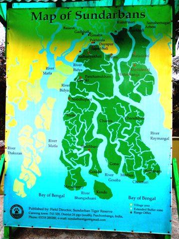 Sunderban Reserve Map