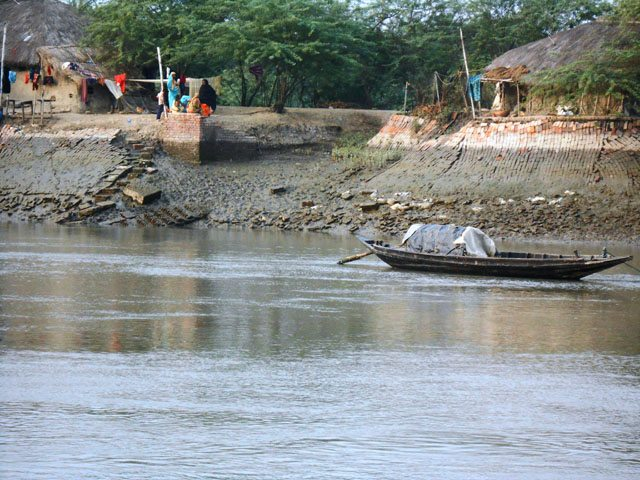 Villages on the bank of rivers