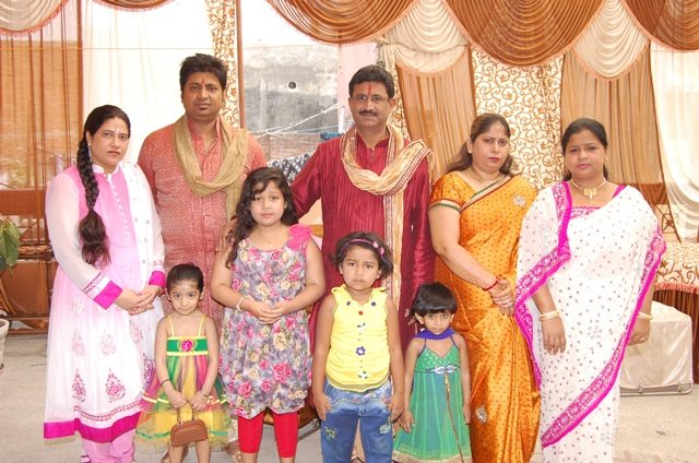 Ajay with his Siblings and Nieces and Nephews