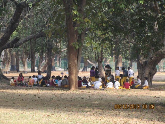 Classes being held in Amrakunj