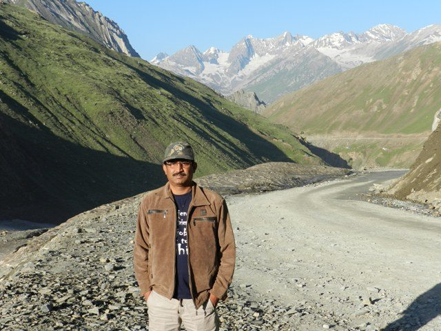 On one of his expeditions at Zozila Pass