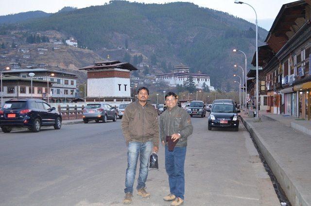 An evening in Paro Town