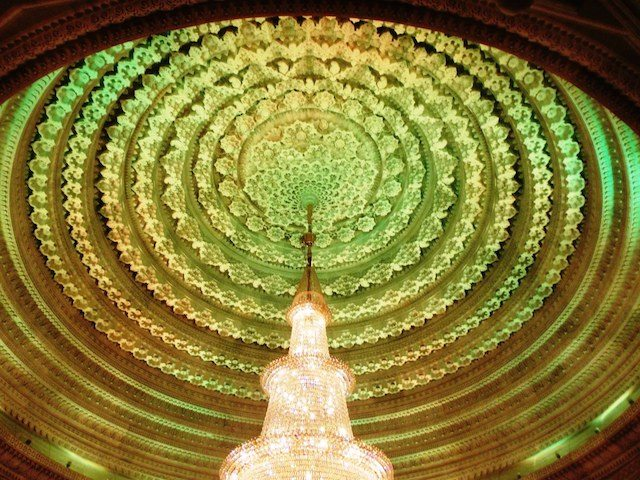 Carved dome with LED lighting
