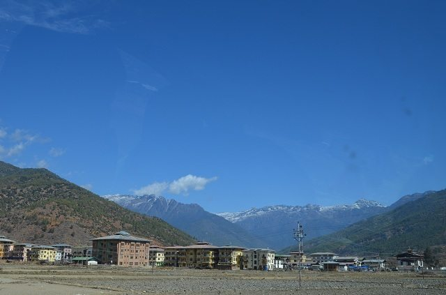 View of Paro Valley from our Hotel