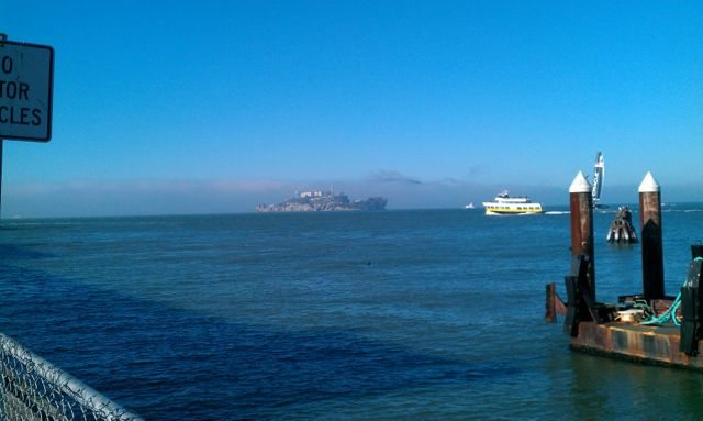 Alcatraz from the pier