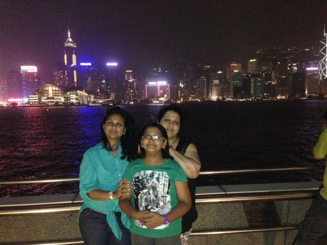 At Victoria Harbour. Beautiful Skyline
