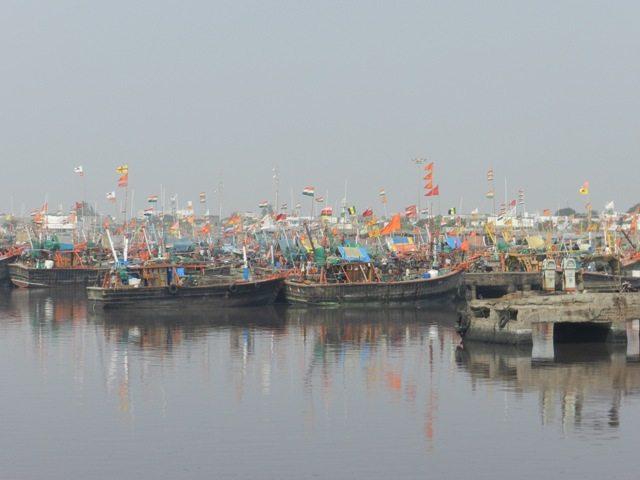 Fishing boats at Mangrol