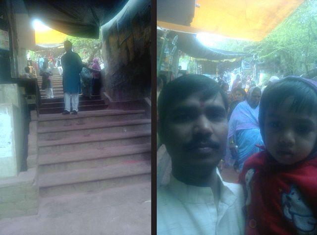 राधारानी जी के मंदिर की ओर जाने वाली सीढ़ियां.