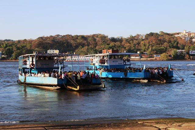 Packed ferries