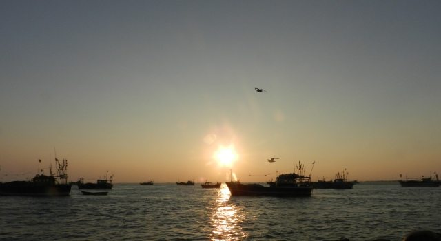 Sunset view from Bet Dwarka