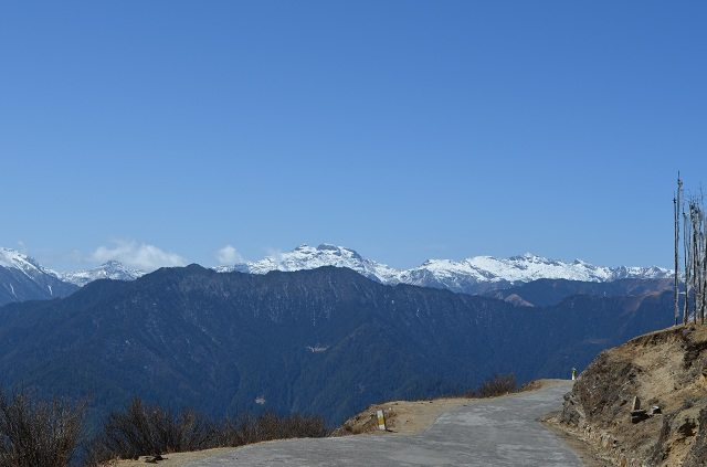 White Himalayan Mountains View