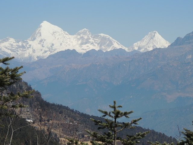 View of Mountain Jhomolhari from Chelela