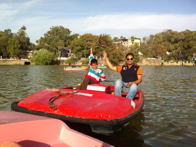 Boating at Nakki Lake, Mount Abu
