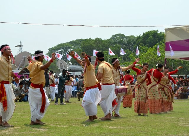 Exuberance in Bihu Dance