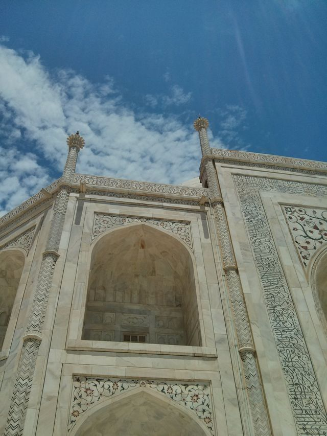 Stopping by the beautiful Taj