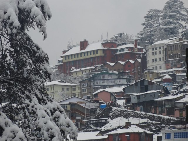Shimla City covered in Snow