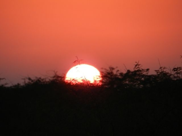 Soothing Sunset at Lakhpat