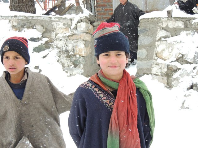Child in the village near Sonmarg