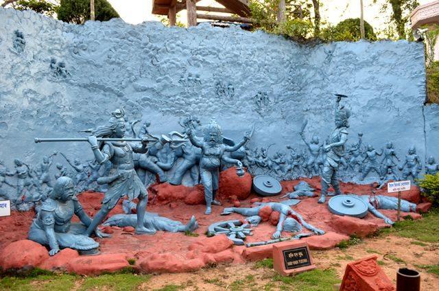 : Hari Har war depicted at Agnigarh
